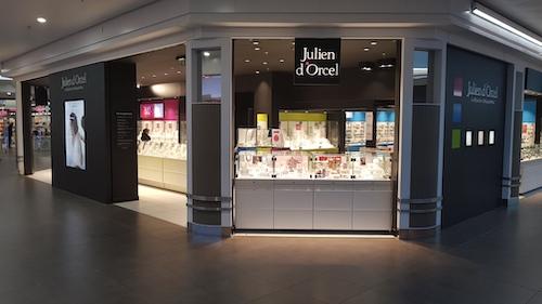 Devanture boutique Julien d'Orcel galerie Saint-Médard