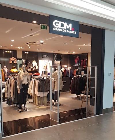 Devanture magasin GDM galerie Saint-Médard