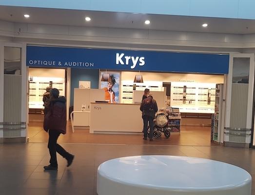 Devanture boutique Krys Galerie Saint-Médard