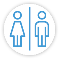 Galerie Saint-Médard : Toilettes